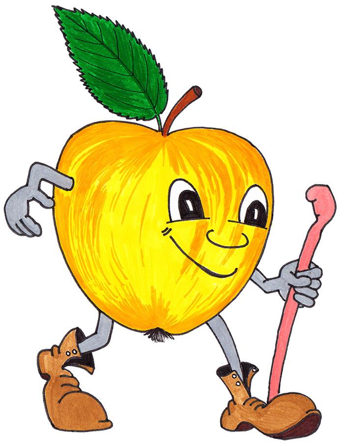 Fasten-Wander-Apfel